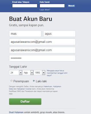 Langkah Membuat akun Facebook