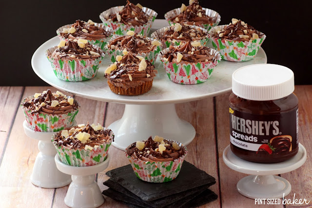 No-Bake Ginger and Chocolate Hershey's™ Spreads Cheesecakes from @Pintsizedbaker