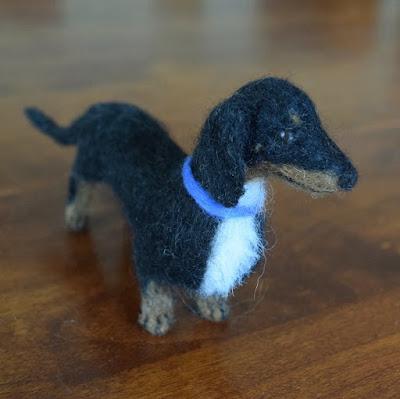 needle felted dachshund