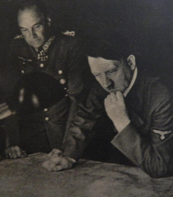 Field Marshal Walther von Brauchitsch and Hitler 23 June 1941 worldwartwo.filminspector.com