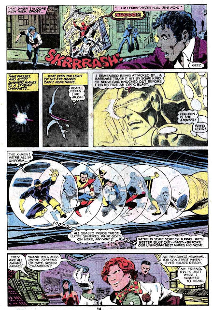 X-men v1 #123 marvel comic book page art by John Byrne