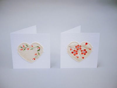 For a twist on the traditional greetings cards, use fabric to paint your favourite Folk It design.