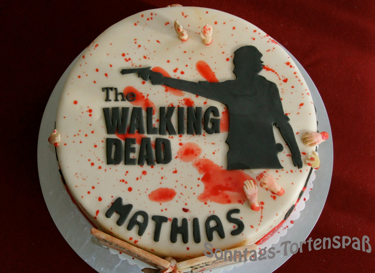 Immer wieder Sonntags Walking Dead Torte