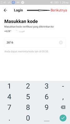 cara verifikasi nomor hp di aplikasi T-GO Android