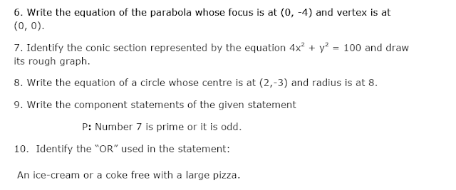 Sample paper for class11 mathematics