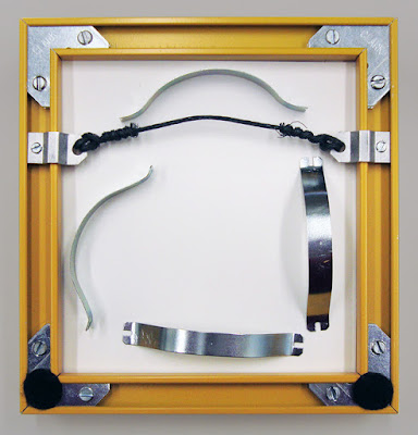 how to frame bead embroidery, assembling metal frame