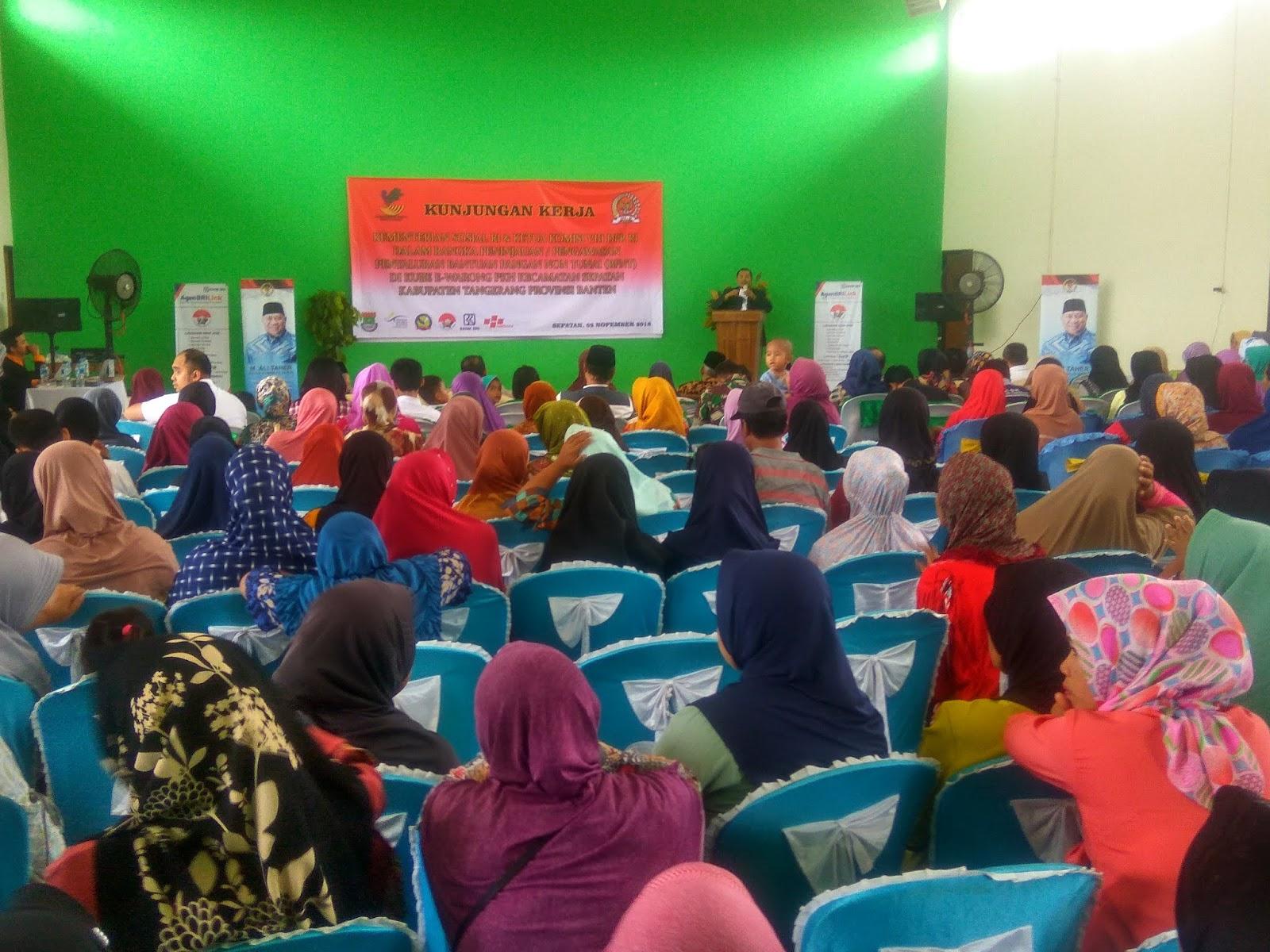 Kementerian Sosial dan DPR RI Kunker Program BPNT Di Kecamatan Sepatan