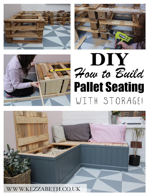 DIY How to Build Pallet Seating with Storage