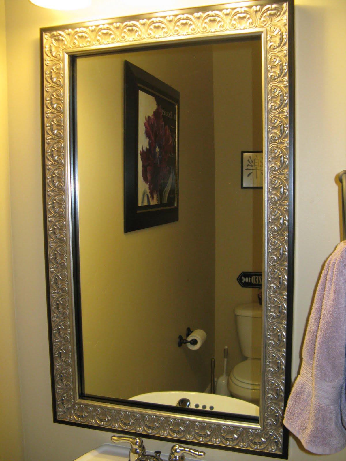 Reflected design mirror frame kit - Mirror frame kits for bathroom mirrors ...