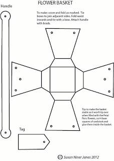 The Papercraft Post: Petal Pairs Basket Bouquet Tutorial