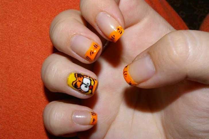 Un diseño muy anaranjado con Garfiel.