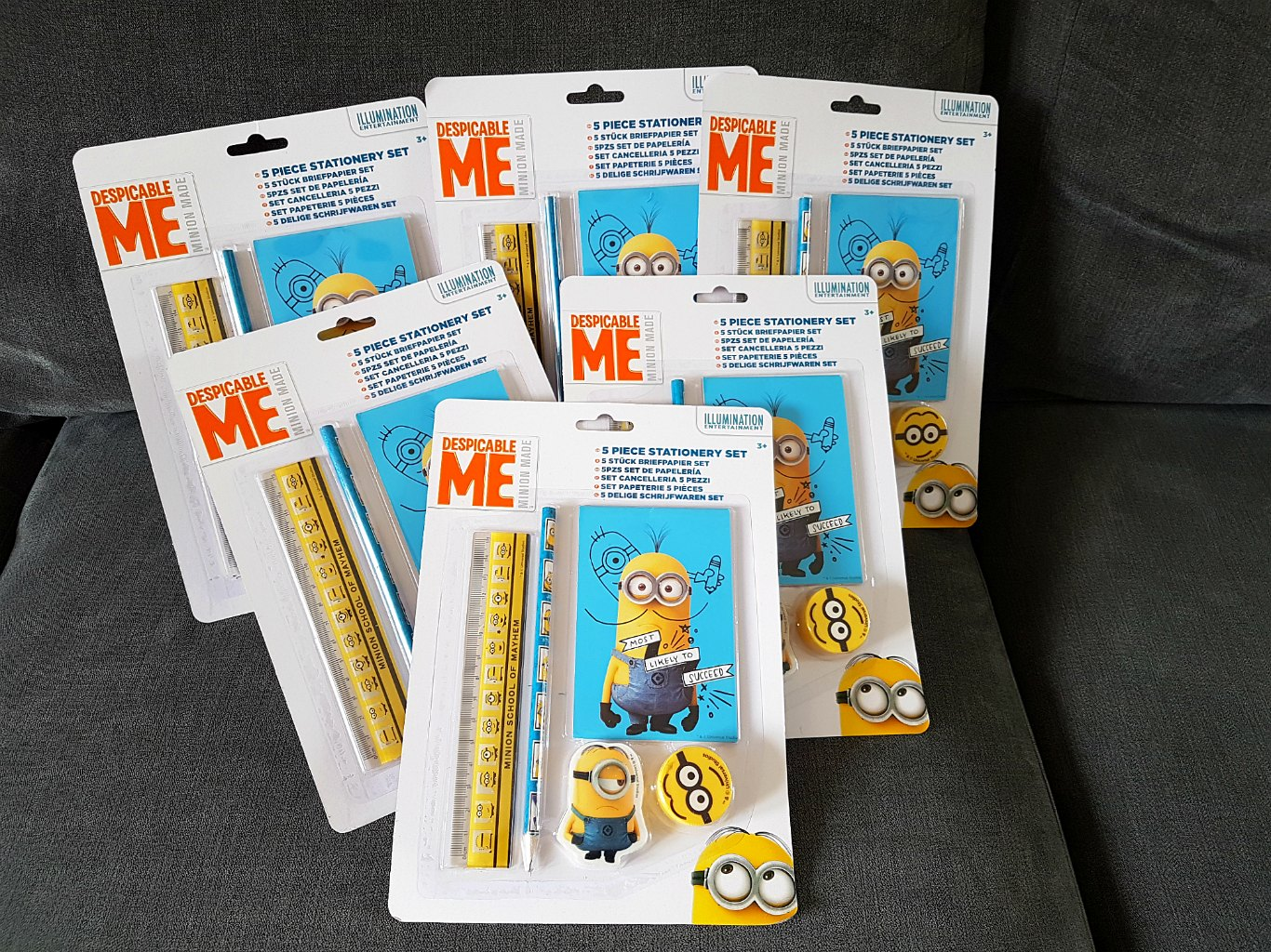 Minions, Despicable Me 3, Minions stationery giveaway