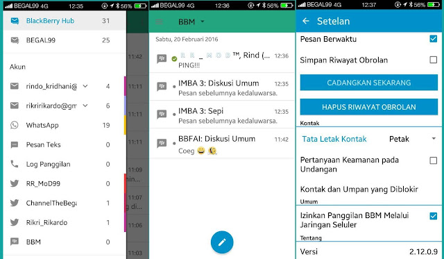 BBM Patched for BlackBerry Hub Versi 2.12.0.9