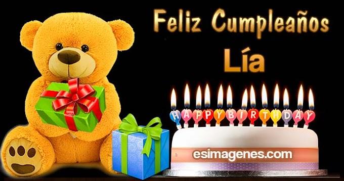 Feliz cumpleaños Lía