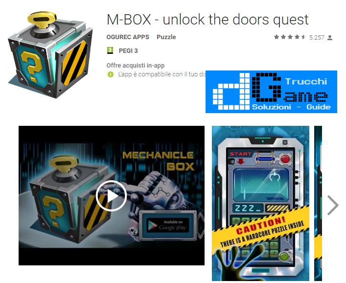 Soluzioni Mechanical box di tutti i livelli | Walkthrough guide