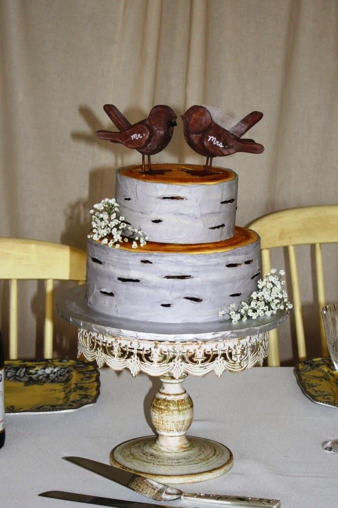 Party Cakes Birch Tree Wedding Cake