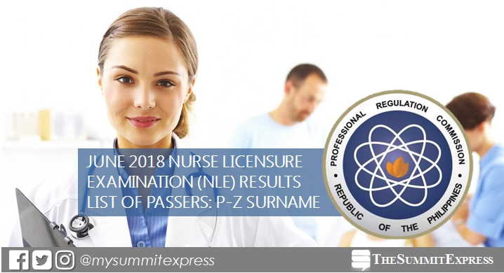 P-Z Passers: June 2018 NLE Results