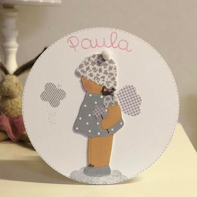 placa-puerta-decoración-infantil-personalizada-hada gris y rosa