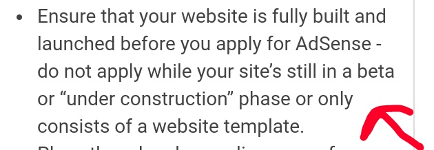 For adsense approval
