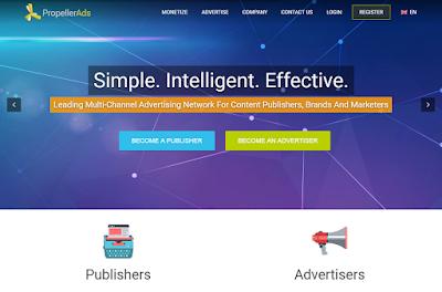 اربح 100 دولار كل شهر من عرض اعلانات propellerads على موقعك