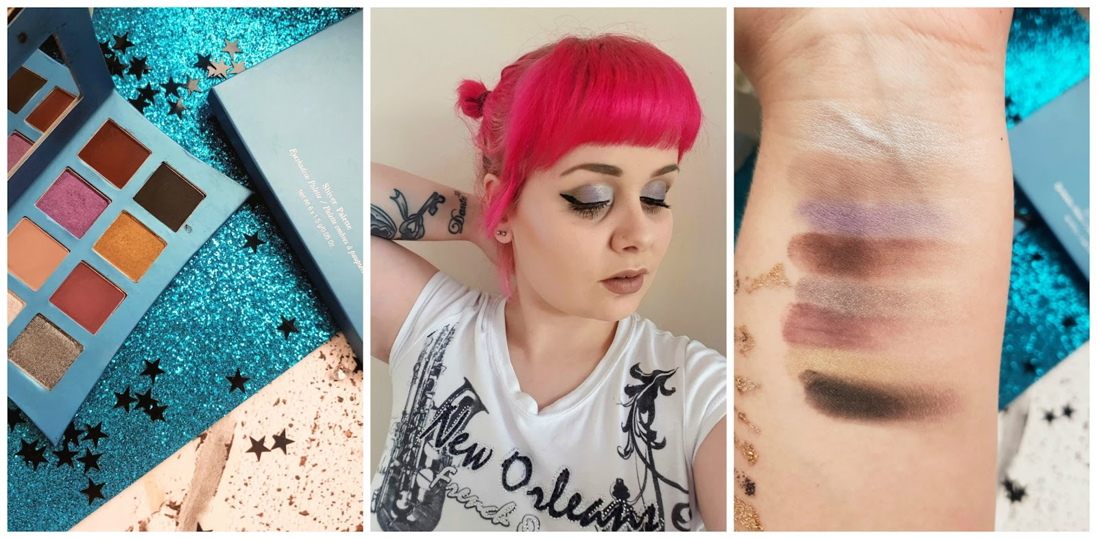 Illamasqua Shiver Palette  swatches and makeup look