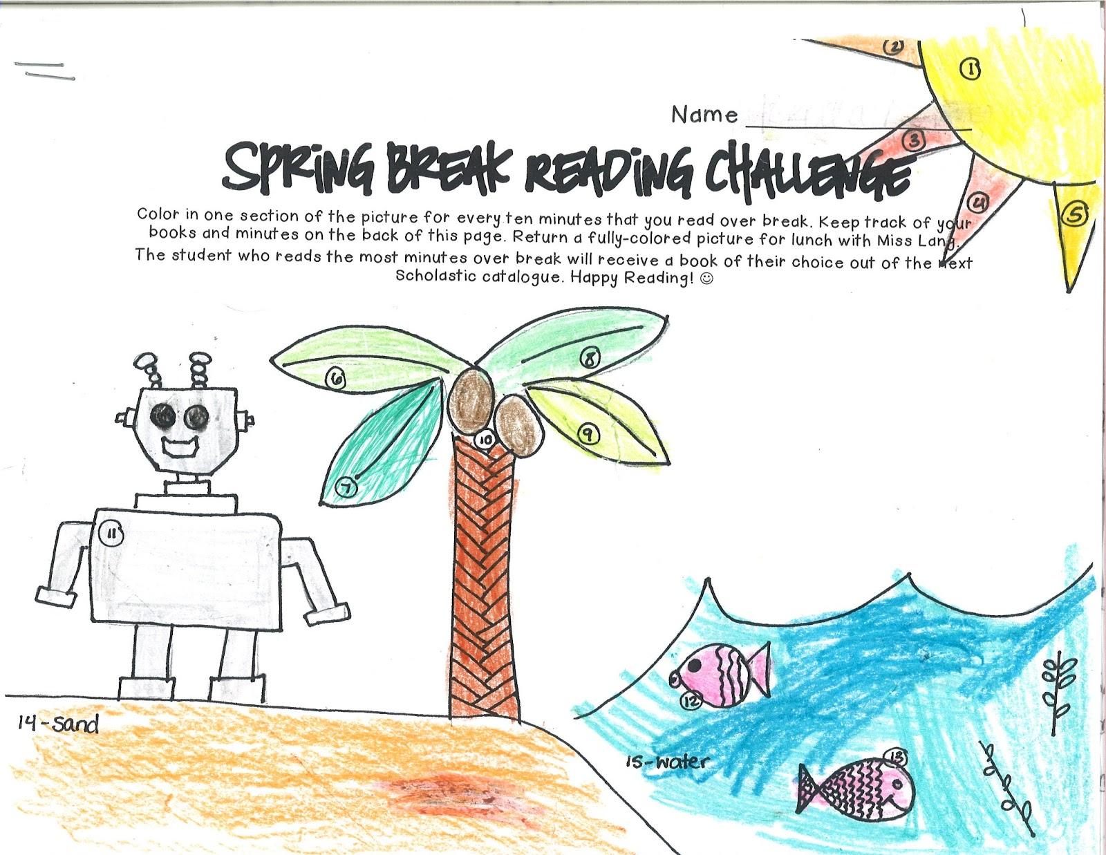 Lang Logistics Spring Break Reading Challenge