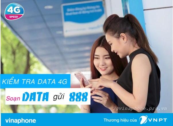Cú pháp kiểm tra lưu lượng 4G Vinaphone tốc độ cao còn lại