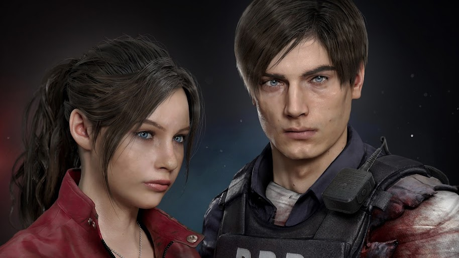 Claire Redfield Leon S Kennedy Resident Evil 2 4k Wallpaper 4