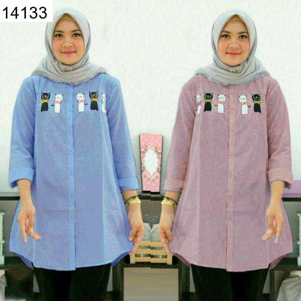 Jual Blouse Anna Supernova Long Shirt - 14133