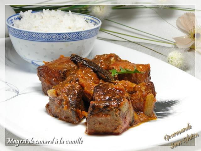 Magret de canard à la vanille (recette Ile de la Réunion)