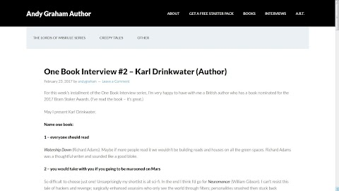 One Book Interview #2 – Karl Drinkwater