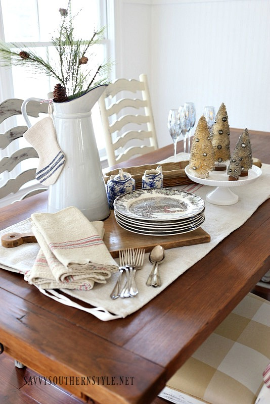 Savvy Southern Style French Country Christmas Breakfast Room