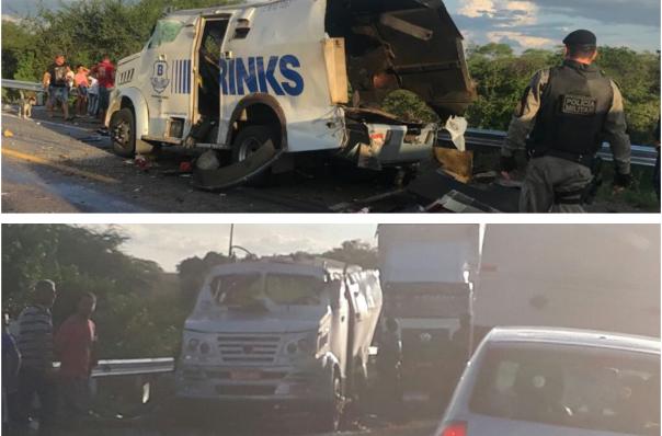 Em Inhapi/AL, bandidos explodem carro-forte durante assalto na rodovia federal BR-423