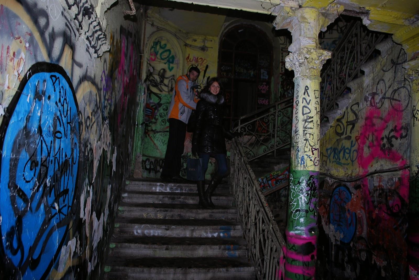 Подъезд с граффити, Вильнюс, Литва
