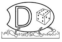 Alfabeto centopeia letra D