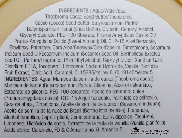 TBS Vanilla Bliss Body Butter Review Swatch Price Ingredients