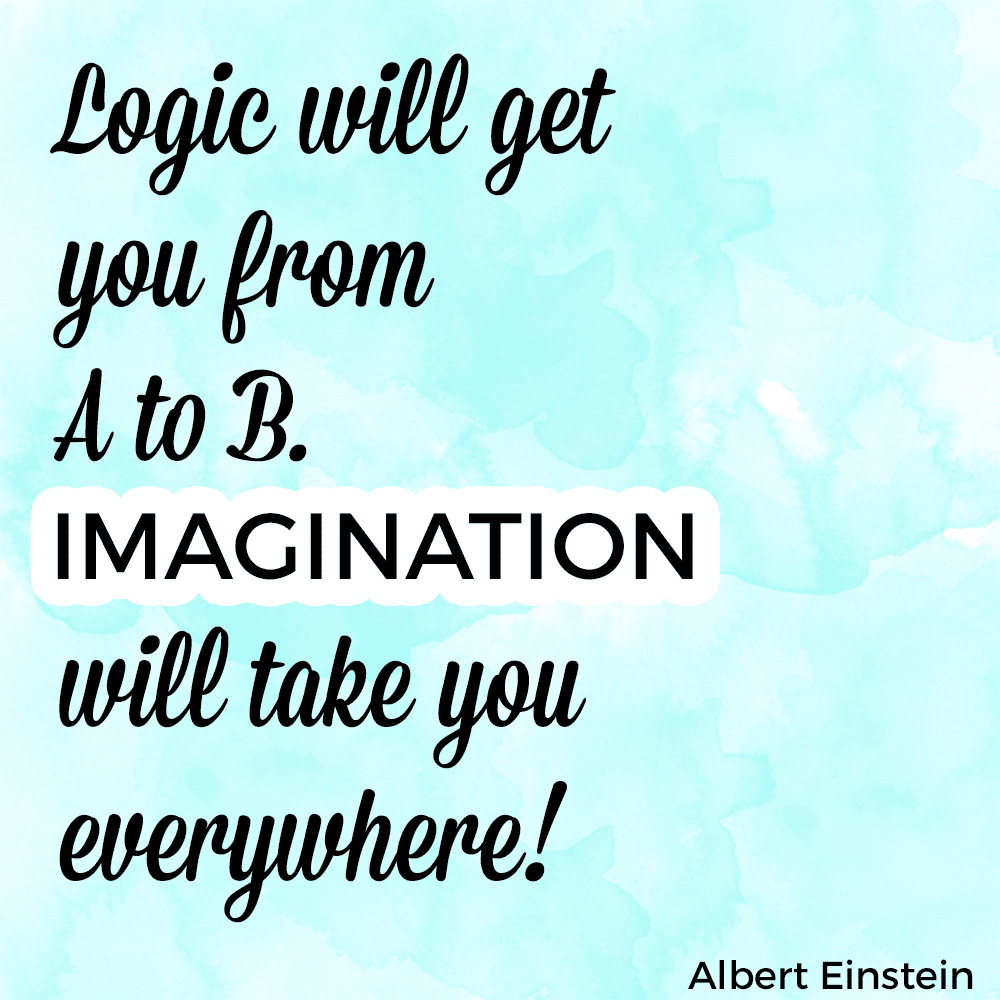 Imagination quote by Albert Einstein.
