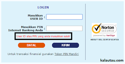 kalautau.com - Lupa Internet Banking Mandiri