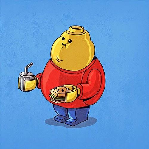 Fat Super Hero Gemuk - Fat Lego Guy