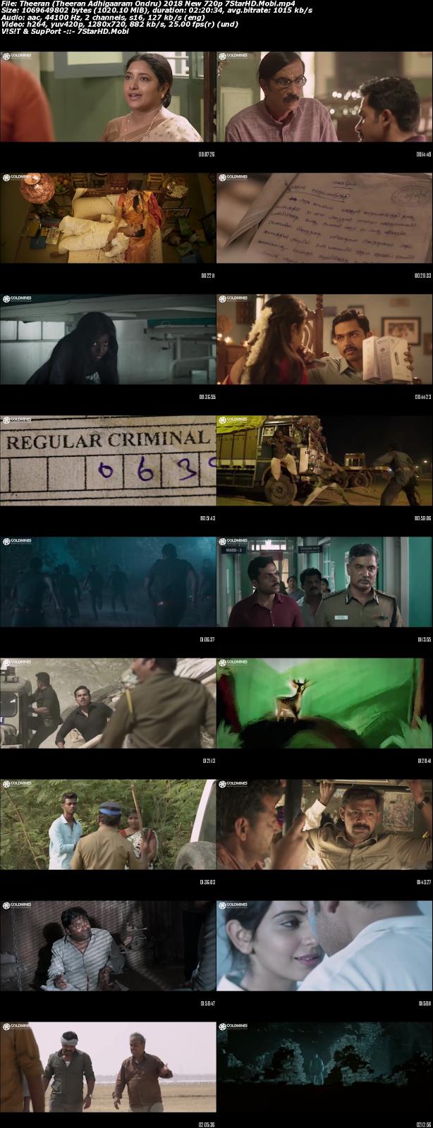 Theeran (Theeran Adhigaaram Ondru) 2018 Hindi Dubbed 720p HDRip x264 1GB 2