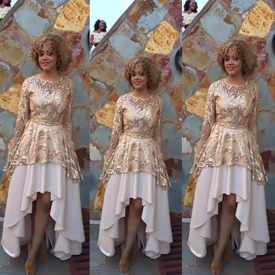 Nadia Buari pretty in Gold