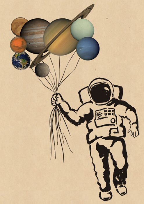 this is mooniqs blog A is for Astronaut Holding Solar