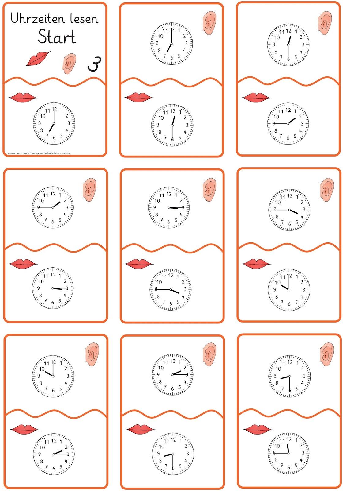 Lernstubchen Uhren Lesen