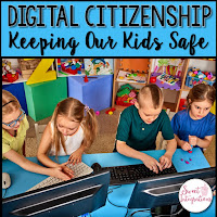 Click to purchase this digital citizenship resource from Teachers Pay Teachers for grades K-7