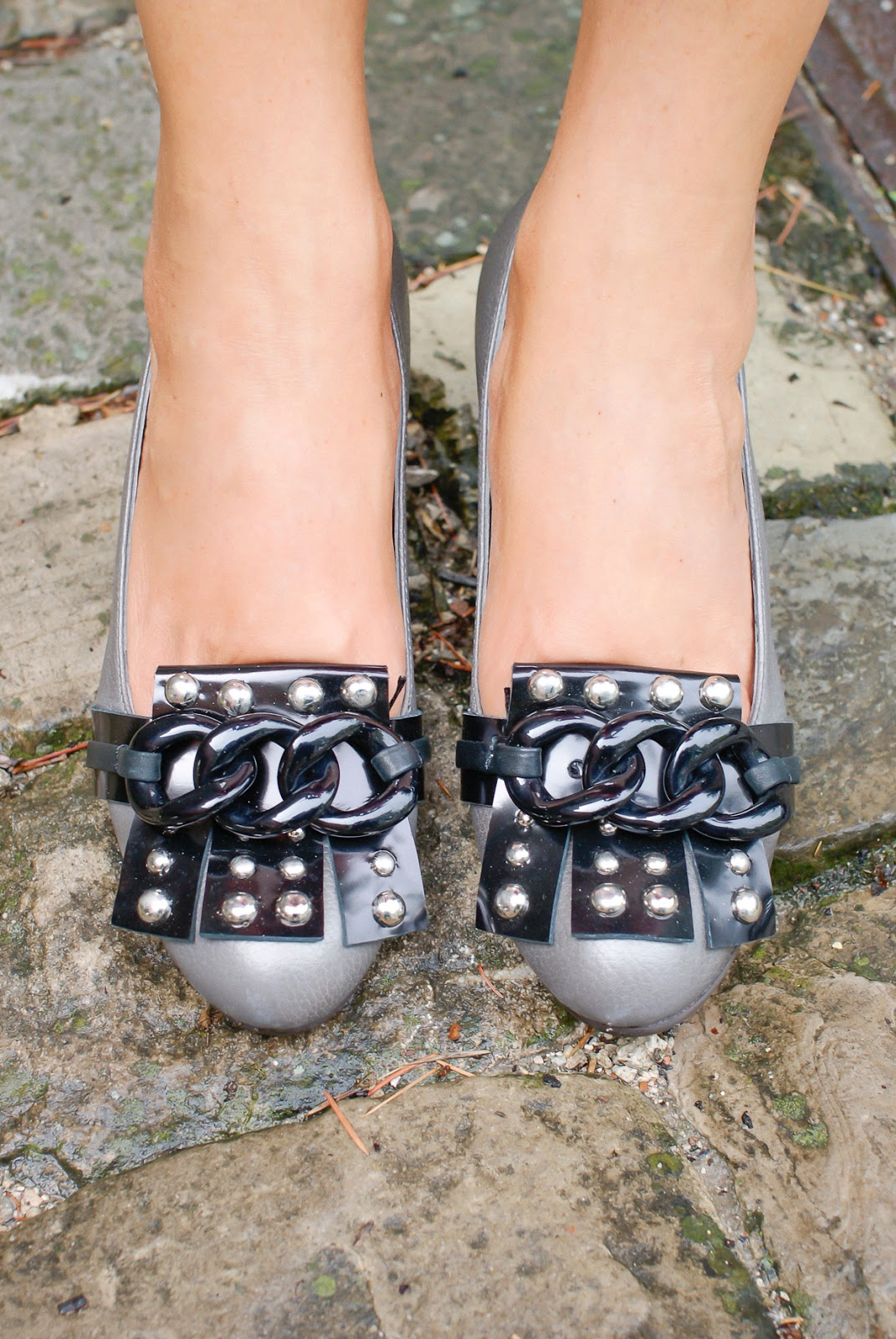Giancarlo Paoli studded loafers on Fashion and Cookies fashion blog, fashion blogger style