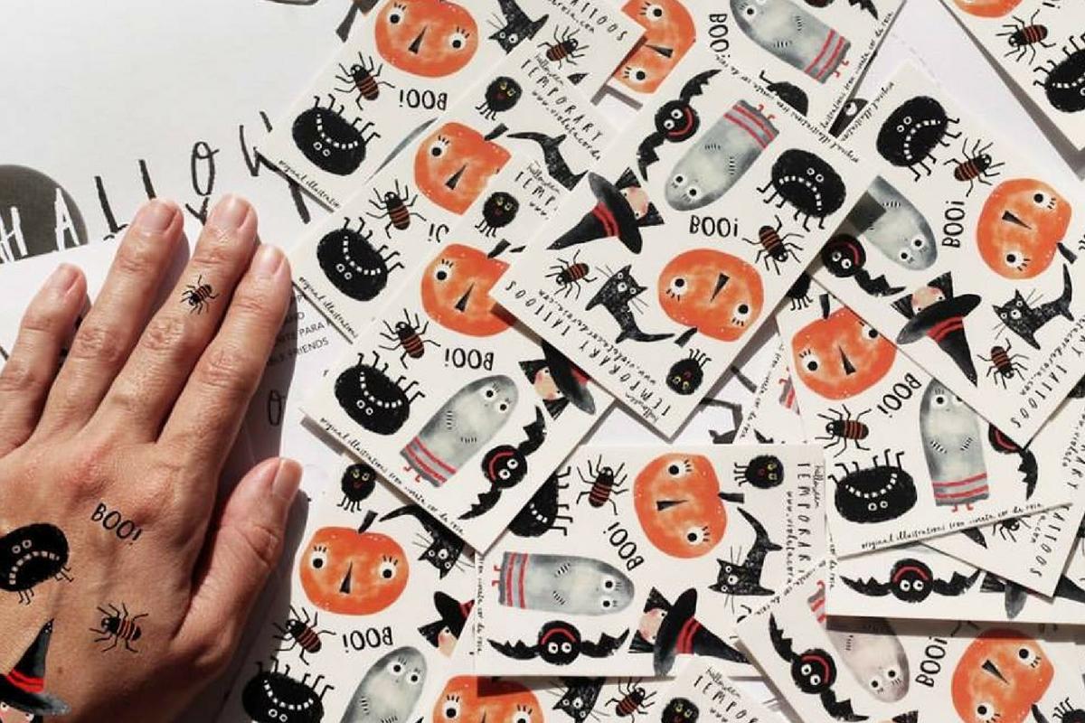 Halloween-Tatuagens-Violeta-Cor-Rosa-AtMums