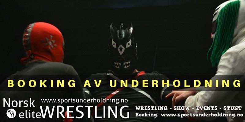 Norsk wrestling. Wrestlingshow Norge. Artistbooking, booking, eventbyrå. Underholdning, show. Foto.