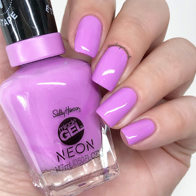 sally hansen miracle gel violet voltage summer 2019 neon collection limited edition swatches