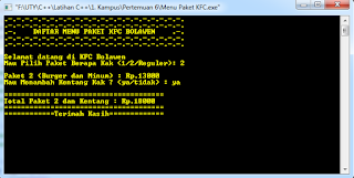 Screenshot Run Program 3