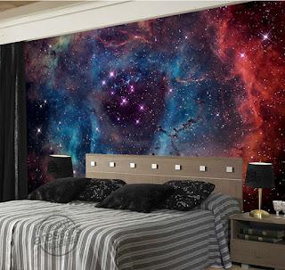 häftig tapet sovrum cosmos rymd space stars